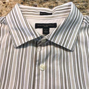 Banana Republic Fitted Shirt Striped Sz L -16/16.5